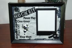 8x6 Hockey Wordart Framed Photo Matte by SapphireCustomPhotos, $8.00