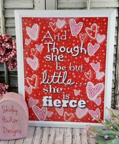 She be but little sign pdf digital  RED by Hudsonsholidays on Etsy