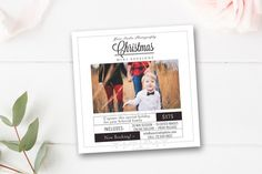 Christmas Mini Session Template. Newsletter Template. $8.00