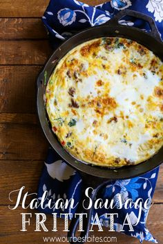 Italian Sausage Frittata | Community Post: 39 Delicious Things You Can Make In A Skillet