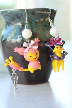 Pokémon Earrings  SKITTY & DELCATTY Toy Earrings  by GlitzCouture, $13.50