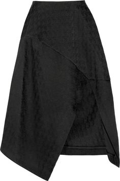 Stella McCartney | Houndstooth cotton-blend jacquard midi skirt | NET-A-PORTER.COM