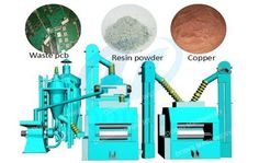 scrap circuit board (PCB) recycling machine, which can be used for separating the metals and non metals from the waste PCB for recycle use. Among the metal products, lead and tin are very less, gold and silver are very difficcult to be separated, but copper has the highest content. So copper is the main metal product you can get high benefit