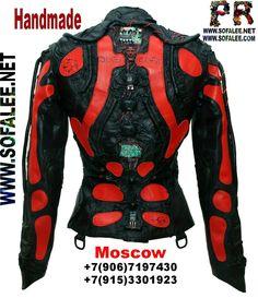 Genuine leather jacket cyberpunk 0
