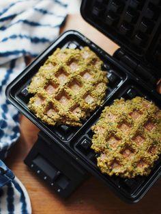 Fantastic Falafel Waffles - My New Roots Banana Waffles, Pancakes And Waffles, Falafel Waffle, Cabbage Side Dish, Vegetarian Recipes, Cooking Recipes, Healthy Recipes, Vegan Lunches, Waffle Iron