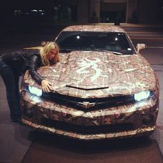 omg! i love this Browning camo wrapped Chev Camaro!