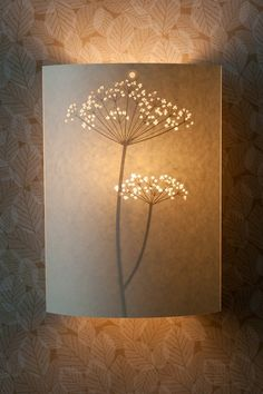 Cow Parsley Wall Lamp by Hannah Nunn