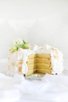 ... coconut cake with lemon curd cream cheese icing & toasted marshmallow frosting ...