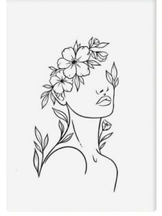 Cool Art Drawings, Art Drawings Sketches, Simple Line Drawings, Art And Illustration, Doodle Art, Arte Inspo, Abstract Face Art, Outline Art, Diy Canvas Art