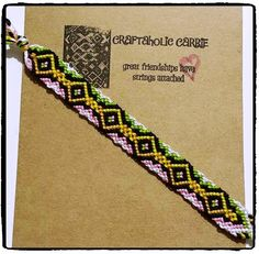 Woven Twist Friendship Bracelet by CraftaholicCarrie on Etsy