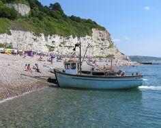 Mackerel boats at Beer in East Devon
