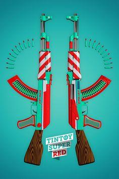 AK47 - LIMITED PRINT SERIES by Twelve Four Haus , via Behance