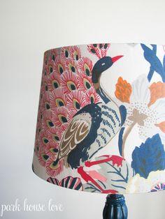DIY lampshade w/ fabric