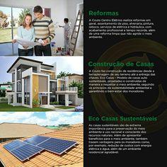 Reformas e construção sustentáveis.