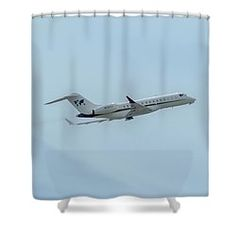 Bombardier Inc Bd-700-1a10 Shower Curtain by Jack R Perry