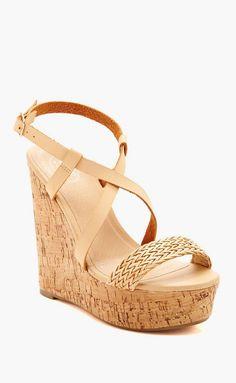 Carrini | Cork Wedge Sandal