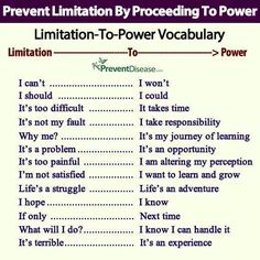#LimitationToPower #Words #Behavior #SelfImprovement Via the Mankind Project on Facebook.