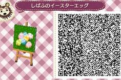 Easter Eggs on the Ground - Animal Crossing New Leaf QR Code