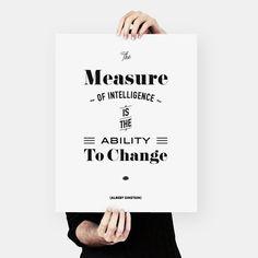 Albert Einstein Quote, words of wisdom, Typography Poster, (40x50 cm), einstein, Wall Art Decor, inspirational prints, housewarming gift $24