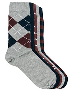 Image 1 of River Island 5 Pack Mixed Pattern Socks