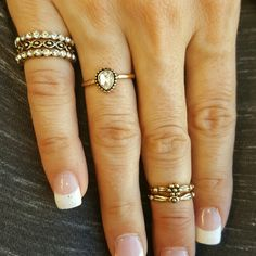 Boho beautiful rings! Boho rings with crystal and gold plate. Jewelry Rings