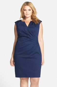 Adrianna Papell Faux Wrap Sheath Dress (Plus Size) available at #Nordstrom