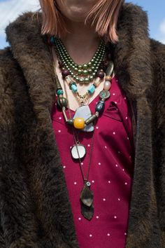 Multiple necklaces. FOUREYES - New Zealand Street Style Fashion www.eyeseyeseyeseyes.com