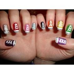i would definitely get my nails painted with this design! my kid would love this!! she <3's chucks!