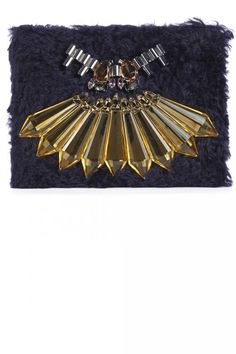Christmas Gift Guide For Her Mawi Ink BLue Embellished Clutch, £525