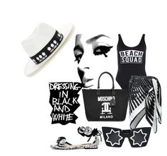 """""""#getthelook#swimsuits"""" by jkiva ❤ liked on Polyvore featuring New Look, La Perla, Moschino, Linda Farrow, Maison Michel, GetTheLook and Swimsuits"""