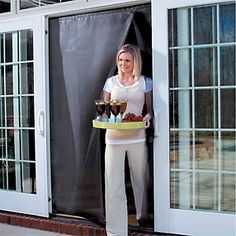 The Affordable Instant Screen Door Installs Easily And Allows For Easy Walk  Thru Access. This Bug Screen Closes Automatically With Magnetic Fasteners.