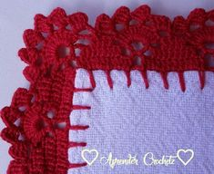 Crochet Edging Patterns, Crochet Lace Edging, Granny Square Crochet Pattern, Crochet Borders, Thread Crochet, Crochet Doilies, Knit Crochet, Crochet Flowers, Crochet Home