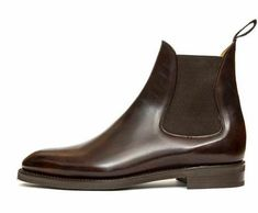 Our wholecut chelsea boot the Alki in Dark Brown Museum calf Sock Shoes, Men's Shoes, Shoe Boots, Dress Shoes, Shoes Men, Ankle Boots Dress, Dress With Boots, Jeans And Boots, Chelsea Brown