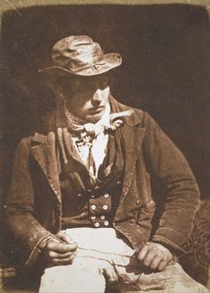 David Octavius Hill and Robert Adamson -  Redding the Line (Portrait of James Linton), 1846