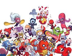 "If Skottie Young was doing the art for this ""Avengers Vs. X-Men"" mess that Marvel's publishing, I might be tempted to buy it just for the art. All of the superheroes would have to be babies, of course. Babies fighting is always funny."