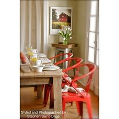 @Overstock - These stacking chairs come in a red color option and have a sturdy steel construction. The polished finish on this set of four chairs is both mar and scratch resistant.http://www.overstock.com/Home-Garden/Red-Tabouret-Stacking-Chairs-Set-of-4/5095637/product.html?CID=214117 $199.99