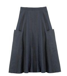 Gorman Mercury linen skirt