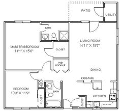Small mother in law addition mother in law suite floor for Basement apartment floor plans