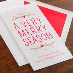 Boughs & Berries Holiday Card by Checkerboard Ltd.