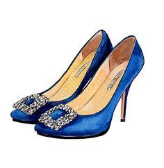 Wedding Something Blue Gift Manolo Blahnik by LadyGatsbyLuxePaper