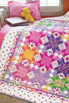 Love this colorful quilt. Quilt PATTERN