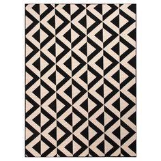 Indoor/Outdoor Durable Area Rug - Ivory/Black (7'11x10')