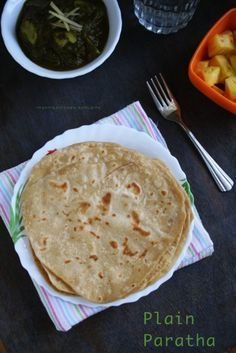 how to make plain paratha with step-by-step photos