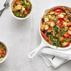 Bulgur - Gemüse - Pfanne von Francis_f87 | Chefkoch Feta, Couscous Salat, Chana Masala, Meal Prep, Prepping, Curry, Meals, Ethnic Recipes, Salads
