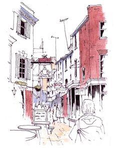 John Edwards (@johnedwardsart) в Instagram: «A sketch of Paved Court off The Green in Richmond upon Thames #sketch #sketchbook #sketching #aquarell #art #painting #watercolor #watercolour #sketch #paint #drawing #sketching #sketchbook #travelbook #archisketchery #sketchaday #sketchwalker #sketchcollector #traveldiary #topcreator #usk #urbansketch #urbansketchers #скетчбук #скетч #скетчинг #pleinair #aquarelle #watercolorsketch #usk #architecture #painting #illustration