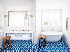 5 Bold Bathroom Tile Floors :http://cococozy.com/5-bold-bathroom-tile-floors/
