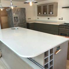 Bianco De Lusso - Amersham, Bucks - Rock and Co Granite Ltd Worktop Ideas, Kitchen Worktop, Work Tops, White Quartz