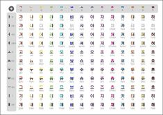 Image result for hangul alphabet