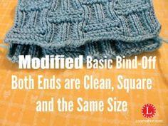 Modified Basic Bind Off on Loom