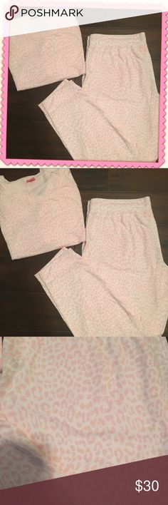 BNWOT PJs Never worn, pink and white leopard pajamas. Long sleeved , warm! No rips, stains, tears, runs TTS. Jenni Other